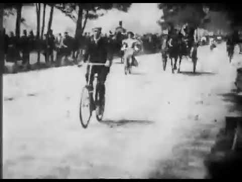 Hyde Park Bicycling Scene (1896)