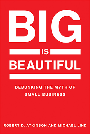 "Jacket cover for ""Big is Beautiful: Debunking the Myth of Small Business"""