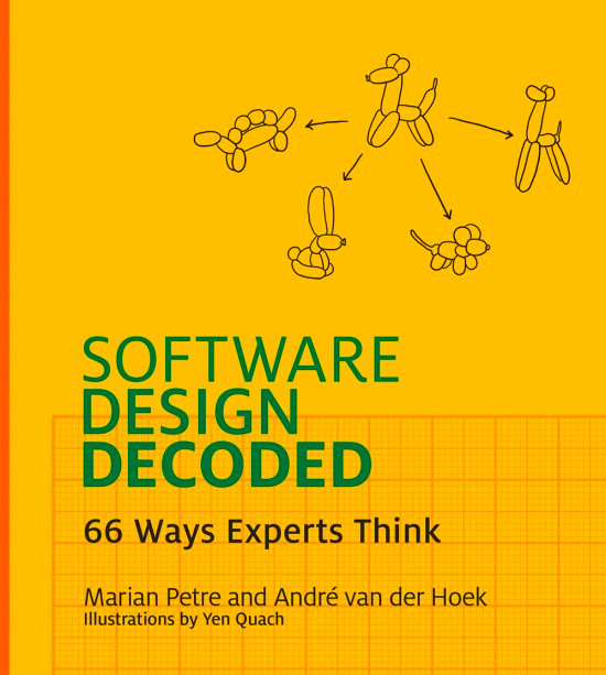 "Jacket cover for the book ""Software Design Decoded"""
